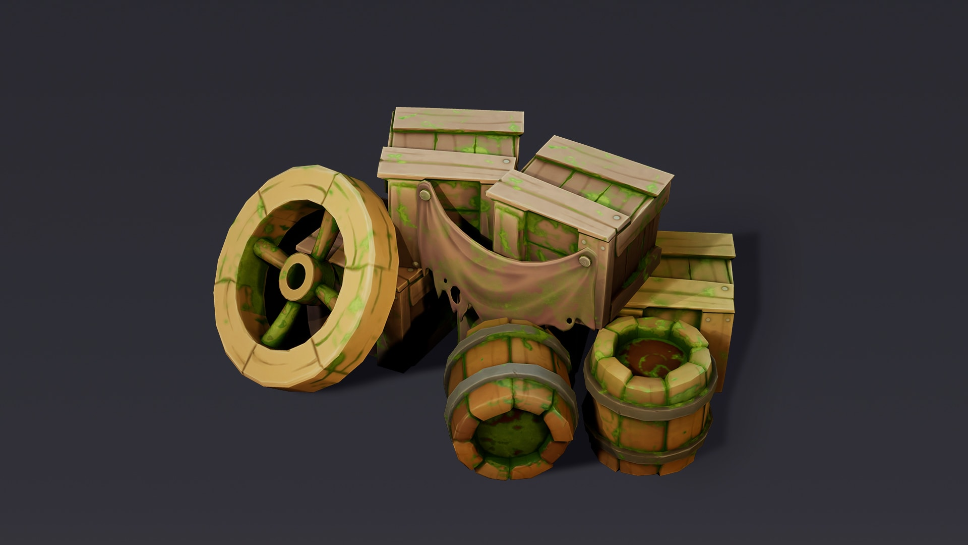 Crimson Field Stylized Props Set – Package UE4 and FBX